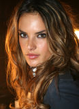 NEW YORK - SEPTEMBER 09: Model Alessandra Ambrosio poses backstage Stock Image