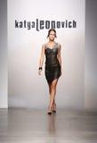 NEW YORK - SEPTEMBER 06: A Model walks runway for Katya Leonovich Spring Summer 2015 fashion show Royalty Free Stock Image