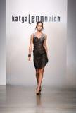 NEW YORK - SEPTEMBER 06: A Model walks runway for Katya Leonovich Spring Summer 2015 fashion show Stock Images