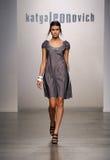 NEW YORK - SEPTEMBER 06: A Model walks runway for Katya Leonovich Spring Summer 2015 fashion show Royalty Free Stock Images