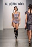 NEW YORK - SEPTEMBER 06: A Model walks runway for Katya Leonovich Spring Summer 2015 fashion show Stock Photos