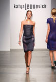 NEW YORK - SEPTEMBER 06: A Model walks runway for Katya Leonovich Spring Summer 2015 fashion show Royalty Free Stock Photo