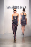 NEW YORK - SEPTEMBER 06: A Model walks runway for Katya Leonovich Spring Summer 2015 fashion show Stock Images