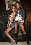 NEW YORK - SEPTEMBER 09: Models  Isabel Goulart(L) and Alessandra Ambrosio (R) poses backstage Stock Photo