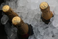 Moet and Chandon champagne presented at the National Tennis Center during US Open 2017 Stock Photos