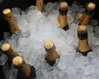 Moet and Chandon champagne presented at the National Tennis Center during US Open 2017 Royalty Free Stock Photos