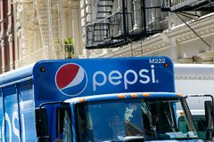 Pepsi truck in SoHo Royalty Free Stock Image