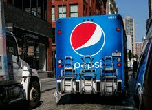 Pepsi truck in SoHo Stock Image