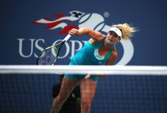Professional tennis player CoCo Vandeweghe of United States in action during her US Open 2017 round 4 Stock Photography