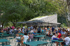 Shake Shack restaurant in Madison Square Park with people in New York Royalty Free Stock Photo
