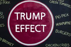 New York - September 22, 2016: slogan against trump in new york. Manhattan stock photo