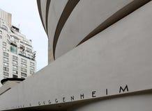 NEW YORK - SEPTEMBER 01: Solomon R Guggenheimmuseum van mod. Stock Foto