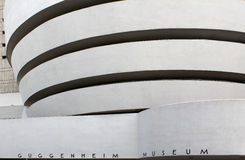 NEW YORK - SEPTEMBER 01: Solomonen R Guggenheim museum av ändring Arkivfoto