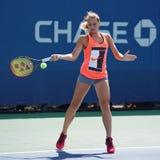 Ukrainian junior tennis player Marta Kostyuk in practice during US Open 2017 Royalty Free Stock Photo