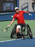 US Open 2017 Wheelchair Men`s Singles champion Stephane Houdet of France in action during Wheelchair Men`s Singles semifinal Stock Images