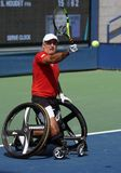 US Open 2017 Wheelchair Men`s Singles champion Stephane Houdet of France in action during Wheelchair Men`s Singles semifinal Stock Photo