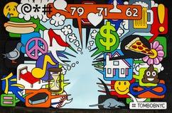 New York - September 18, 2016: Väggmålningar på gatorna av Manhatta Royaltyfri Bild