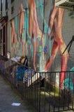 New York - September 18, 2016: Väggmålningar på gatorna av Manhatta Royaltyfri Foto