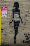 New York - September 18, 2016: Väggmålningar på gatorna av Manhatta Arkivfoto
