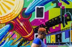 New York - September 18, 2016: Väggmålningar på gatorna av Manhatta Royaltyfria Bilder