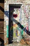New York - September 18, 2016: Väggmålningar på gatorna av Manhatta Arkivfoton