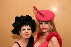 NEW YORK - SEPTEMBER 03: VIP guests posing backstage for Victor de Souza Spring Summer 2015 presentation Stock Images