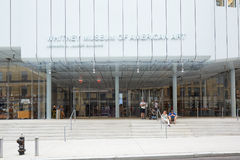 Whitney Museum of American Art facade with people in New York Royalty Free Stock Photos