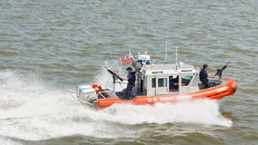 Vedette de la garde côtière des Etats-Unis Image libre de droits