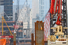 Chantier de construction de World Trade Center, New York Photographie stock libre de droits