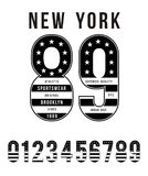 New York Set Number Flag American Typography Design. Vector Image Stock Photos