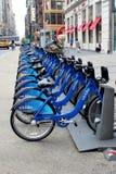NEW YORK - 2 SETTEMBRE: Stazione di aggancio della bici di Citi settembre Immagine Stock