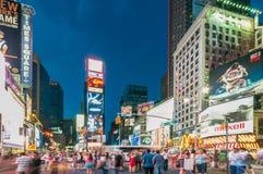 New York - 5 settembre 2010: Times Square il 5 settembre in nuovo Fotografie Stock Libere da Diritti
