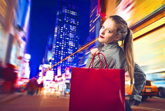 New York shopping Arkivfoto