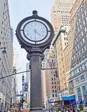 New York sidewalk clock Stock Images