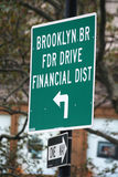 New York sign. Street sign in New York city Royalty Free Stock Photography