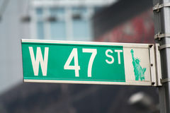 New York sign. Street sign in New York city Stock Photography
