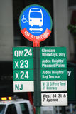 New York sign. Street sign in New York city Stock Image