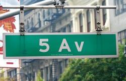 New York sign. Street sign in New York city Stock Photos