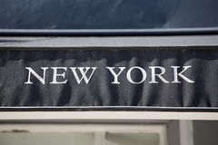 New York, Sign Royalty Free Stock Photography