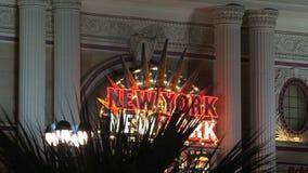 New York sign Las Vegas at night stock video