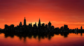New York silhouette Stock Photo