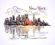 New york sketch Royalty Free Stock Image