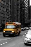 New York skolbuss arkivfoton