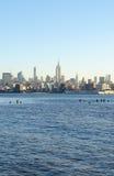 New York Sky Line. In morning Stock Photos
