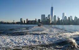New York Sky Line. In morning Stock Image