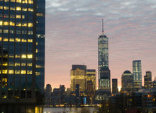 New York Sky Line. In morning Royalty Free Stock Photo