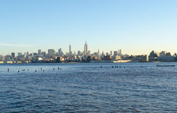 New York Sky Line. In morning sun rise Royalty Free Stock Image