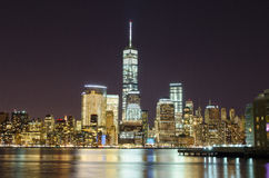 New York Sky Line at night Stock Photos