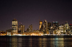 New York Sky Line at night. New York Sky Line in night reflection in hudson Stock Photography