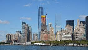 New York Sky Line. From Staten Island Ferry Stock Image